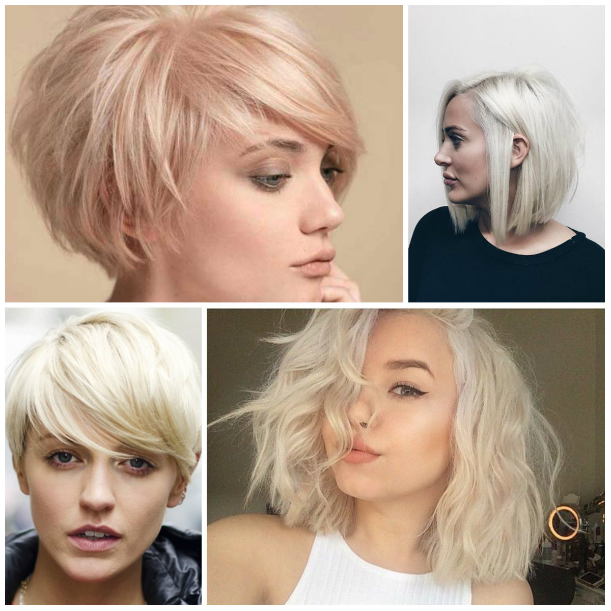 blonde kurzhaarfrisuren 2019